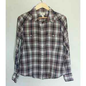 Levi's Vintage Button up Plaid Shirt size Large
